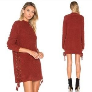 Lovers + Friends Long Sleeve Em Sweater Dress